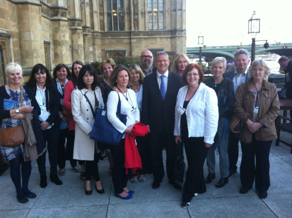 Outside the House of Commons